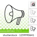 megaphone thin line icon.... | Shutterstock .eps vector #1259990641