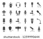 microphone silhouette icons set.... | Shutterstock .eps vector #1259990644