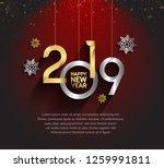 happy new year 2019. vector... | Shutterstock .eps vector #1259991811
