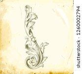 retro baroque decorations... | Shutterstock .eps vector #1260002794