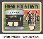 coffee cafe retro poster of... | Shutterstock .eps vector #1260005821