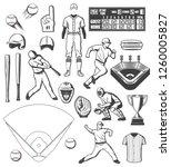 baseball players  sport... | Shutterstock .eps vector #1260005827