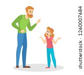 angry parent screaming at young ... | Shutterstock .eps vector #1260007684