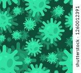virus pattern seamless....   Shutterstock .eps vector #1260012391