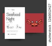 seafood night book table with...