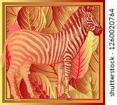 animal print. african zebra... | Shutterstock .eps vector #1260020764