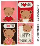 valentine card   vector file... | Shutterstock .eps vector #126002249