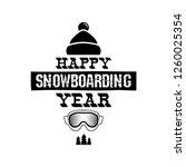 happy snowboarding year  ... | Shutterstock .eps vector #1260025354