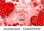 valentine's day sale background.... | Shutterstock .eps vector #1260029344