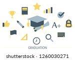 graduation concept. idea of... | Shutterstock .eps vector #1260030271
