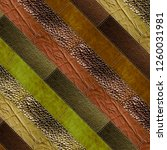 leather patchwork background ... | Shutterstock . vector #1260031981