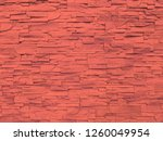 red sandstone wall texture and... | Shutterstock . vector #1260049954