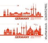 germany travel destination... | Shutterstock .eps vector #1260052981