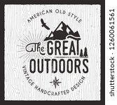 the great outdoors card.... | Shutterstock .eps vector #1260061561
