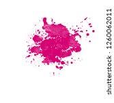 grunge pink ink splash splatter ... | Shutterstock . vector #1260062011