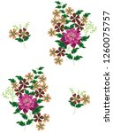 cute floral pattern in the... | Shutterstock .eps vector #1260075757