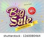 big sale banner  this weekend...   Shutterstock .eps vector #1260080464