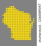 map of wisconsin | Shutterstock .eps vector #1260089347