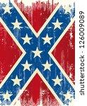 grunge patriotic confederate... | Shutterstock .eps vector #126009089