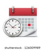 vector illustration of timing... | Shutterstock .eps vector #126009989