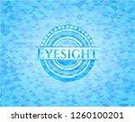 eyesight sky blue emblem with... | Shutterstock .eps vector #1260100201