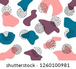 vector abstract geometric... | Shutterstock .eps vector #1260100981