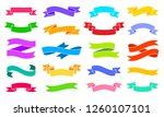ribbon bright color silhouette... | Shutterstock .eps vector #1260107101