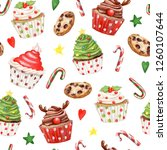 seamless christmas pattern | Shutterstock . vector #1260107644