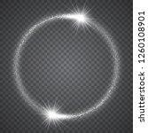 luminous circle frame of... | Shutterstock .eps vector #1260108901
