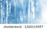 Bright Background With Icicles...