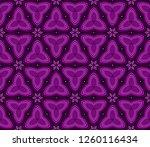 geometric pattern in lace style.... | Shutterstock .eps vector #1260116434