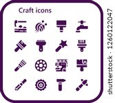 vector icons pack of 16 filled... | Shutterstock .eps vector #1260122047
