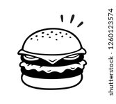 double cheeseburger drawing ... | Shutterstock . vector #1260123574