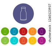 bottle shampoo icons color set...   Shutterstock . vector #1260123937