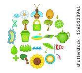 care of nature icons set.... | Shutterstock . vector #1260123961
