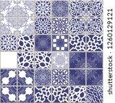 vector mosaic seamless pattern  ... | Shutterstock .eps vector #1260129121