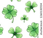 seamless pattern with green... | Shutterstock . vector #1260130534