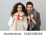 image of european man and woman ... | Shutterstock . vector #1260138244