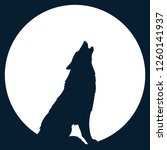 Set Of Wolf Silhouette Of The...