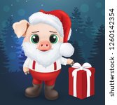 cute pig character. happy new... | Shutterstock .eps vector #1260142354