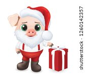 cute pig character. happy new... | Shutterstock .eps vector #1260142357
