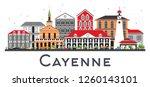 cayenne french guiana city... | Shutterstock .eps vector #1260143101