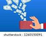 money flies into the wallet...   Shutterstock .eps vector #1260150091