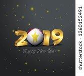 2019 happy new year saba flag...   Shutterstock .eps vector #1260152491