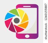 smartphone camera symbol vector ...