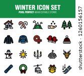 this is a set of winter icons.... | Shutterstock .eps vector #1260156157