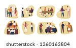 collection of conflict... | Shutterstock .eps vector #1260163804