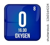 oxygen symbol.chemical element...   Shutterstock .eps vector #1260164224