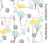 cute seamless childish pattern...   Shutterstock .eps vector #1260166711
