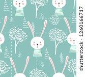 cute seamless childish pattern...   Shutterstock .eps vector #1260166717